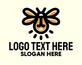 Light - Light Bulb Firefly logo design