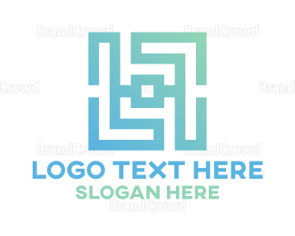 Letter L - Gradient Letter L Monogram logo design