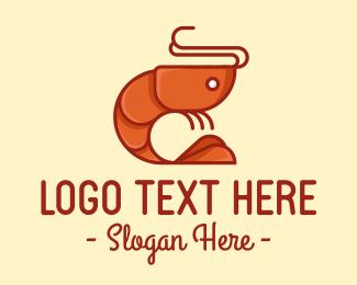 Sea - Shrimp Prawn Seafood logo design