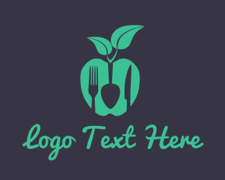 Green Apple - Vegan Food logo design