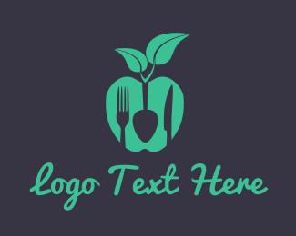 Eating - Vegan Food logo design