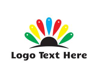 Pin - Flower Spot logo design