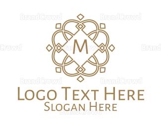 Ancestor - Golden Nordic Lettermark logo design