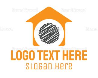 No - Orange House  logo design