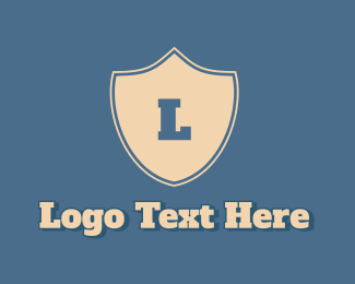 Beige - Classic Shield Letter  logo design