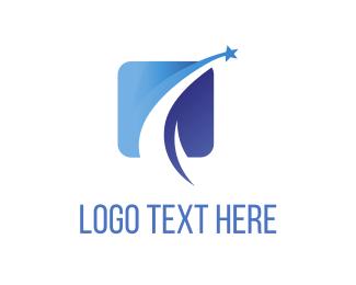 Square - Blue Star logo design
