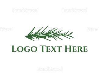 Recipe - Rosemary logo design