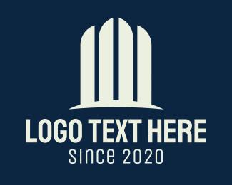 Centerpoint - White Minimalist Fountain logo design