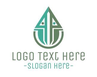 Robotics - Industrial Drop logo design