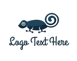 Gecko - Blue Chameleon logo design