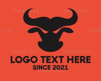Bull Fight - Red Angry Bull logo design
