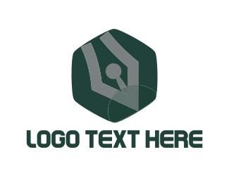 Quill - Pen Hexagon logo design