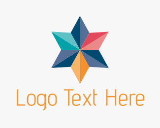 Collaboration - Colorful Geometric Star logo design