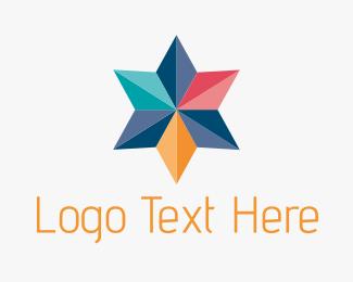 Cheerful - Colorful Geometric Star logo design