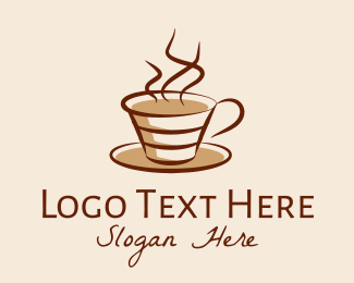 Steaming - Steaming Hot Coffee  logo design