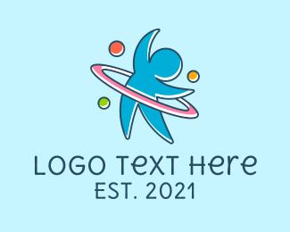 Play - Playing Hula Hoop logo design