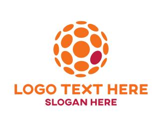 Sphere - Orange Ball logo design