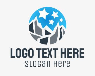 Star - Mount & Stars logo design