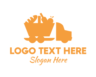 Food Delivery - Food Delivery Truck  logo design
