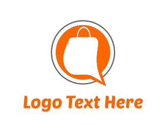 Chat - Shopping Bag logo design