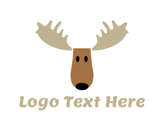 Elk - Moose Cartoon logo design