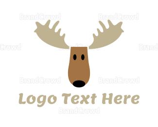 Alaska - Moose Cartoon logo design