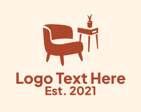 Interior - Modern Orange Interior logo design