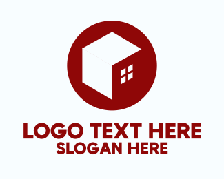 Tiny Home - Cube Minimalist House  logo design
