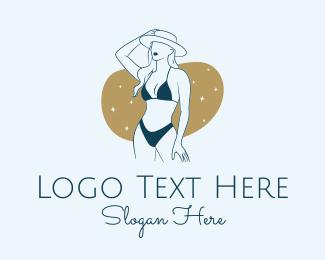 Model - Bikini Girl logo design