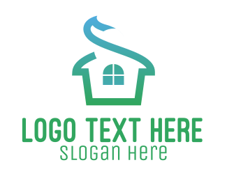 Apartment - Green House Roof logo design