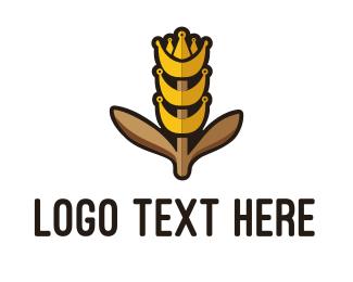 Agritech - King Grain logo design
