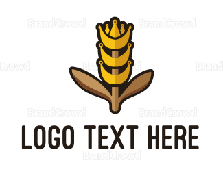 Bread - King Grain logo design