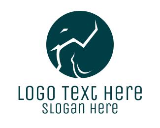 Africa - Elephant Circle logo design