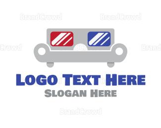3d - Movie Couch logo design