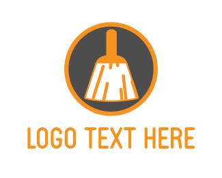 Carpet Cleaning - Brush Circle logo design