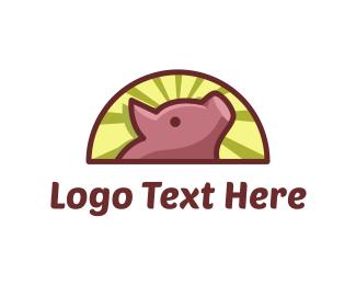 Pride - Pink Piglet logo design