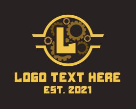 Steampunk - Steampunk Gear Letter logo design
