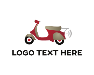 Scooter - Red Scooter logo design
