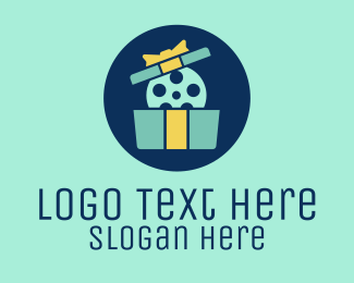 Present - Entertainment Film Gift  logo design