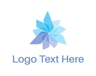 Propeller - Propeller Flower logo design
