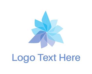 Clean - Propeller Flower logo design