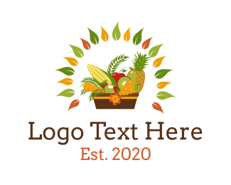 Vegetable - Fruit & Vegetable Basket logo design