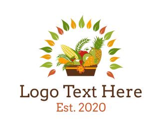 Picnic - Fruit & Vegetable Basket logo design