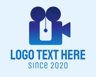 Movie Production - Gradient Movie Writer logo design