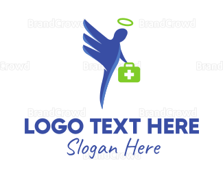 Center - Doctor Angel logo design