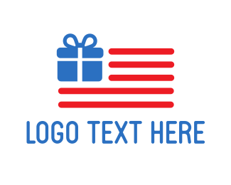 Usa - USA Gift Flag logo design