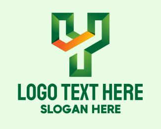 Printing Shop - 3D Letter Y  logo design