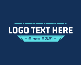 Mobile Legends - Futuristic Tech Banner Text logo design