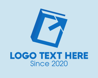 Investment - Blue Book Arrow logo design