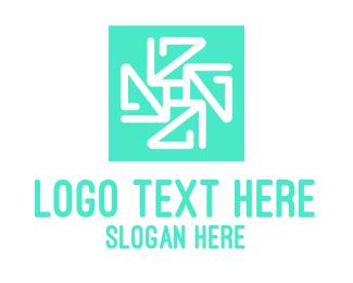 Frosty - Geometric Snowflake Tile logo design